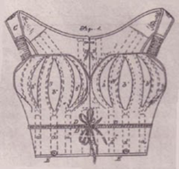 illustration of early bra with breast pillows
