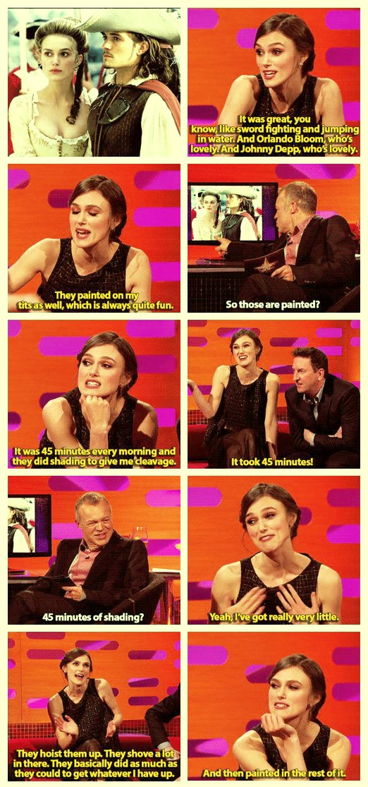 Keira Knightley talks about her breast size