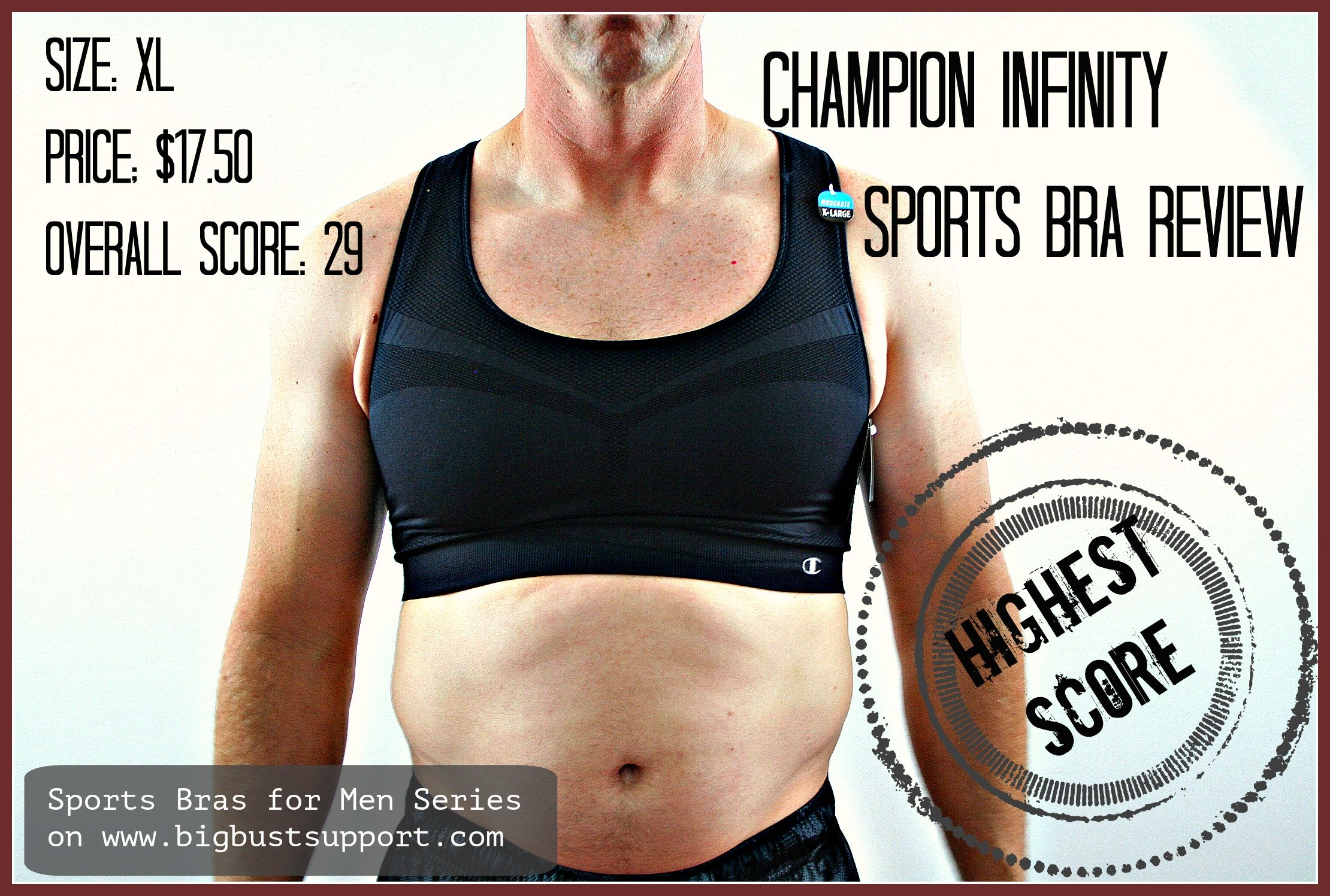 5fe836bb1c Sports Bras for Men  Champion Infinity Review