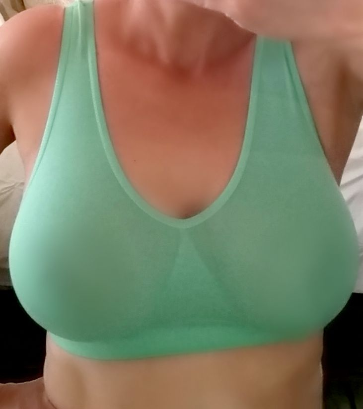 image of me wearing the ahh bra front shot